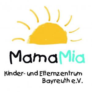 Gelbe Sonne als Logo des Mama Mia Bayreuth